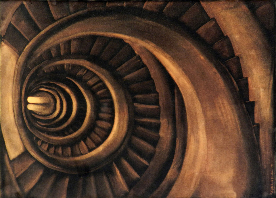 Ozgul ARSLAN - Time descending from the stairs - 2003